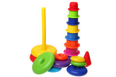 Bright children plastic toys Royalty Free Stock Image