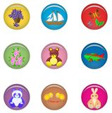 Bright children's badges Stock Images