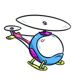 Bright children's helicopter cartoon illustration Stock Photo