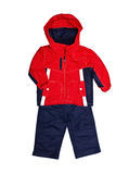 Bright children's jacket and trousers Stock Photos