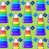 Bright children's pattern Royalty Free Stock Image