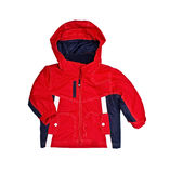 Bright children's red jacket Stock Photo