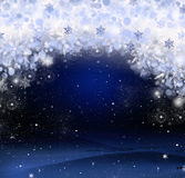 Bright Christmas background with a large snowflake Stock Photos