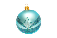 Bright Christmas Ball on a white background Royalty Free Stock Photo