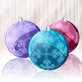 Bright  christmas balls Stock Photos