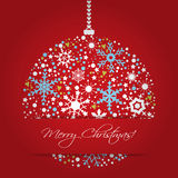 Bright Christmas balls background Stock Photography