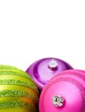 Bright christmas balls close up Royalty Free Stock Photos