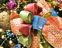 Bright Christmas Bow Royalty Free Stock Photos