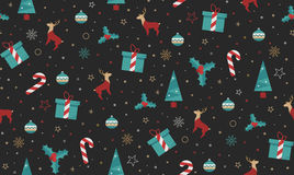 Bright Christmas chuck for fabric Royalty Free Stock Images