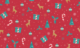 Bright Christmas chuck for fabric Stock Images