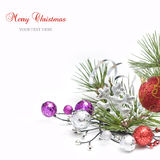 Bright christmas composition Royalty Free Stock Photos