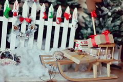 Bright Christmas Composition Stock Images