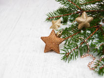 Bright christmas composition with stars Royalty Free Stock Images