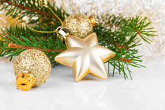 Bright christmas composition Royalty Free Stock Photo