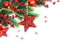 Bright christmas composition with stars Stock Image