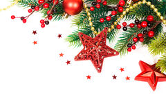 Bright christmas composition with stars Stock Images