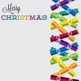 Bright Christmas cracker card Royalty Free Stock Photography