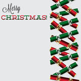 Bright Christmas cracker card Stock Photo