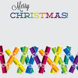 Bright Christmas cracker card Stock Image