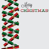 Bright Christmas cracker card Stock Photos