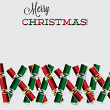 Bright Christmas cracker card Stock Photography