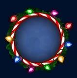 Bright Christmas frame Stock Photo