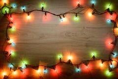 Bright Christmas garland Royalty Free Stock Image