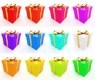 Bright christmas gifts Royalty Free Stock Photo