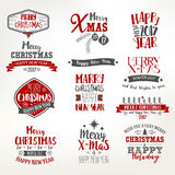 Bright Christmas Lettering Set Royalty Free Stock Image