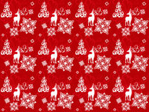 Bright Christmas pattern vector. Seamless pattern with christmas deers, snowflakes and trees Royalty Free Stock Photos