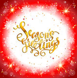 Bright Christmas red greeting Stock Photo