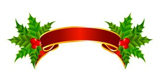 Bright christmas red ribbon Stock Photography