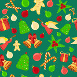 Bright Christmas Seamless Background Royalty Free Stock Images