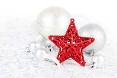 Free Bright Christmas Star With Xmas Decoration Stock Photo - 35292990