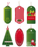 Bright Christmas tags. Royalty Free Stock Photography
