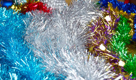 Bright Christmas tinsel background Royalty Free Stock Images