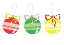Bright christmas toys. Illustration of bright christmas toys, isolated on white Stock Photos