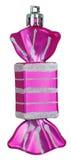 Bright Christmas tree toy purple candy Stock Photos