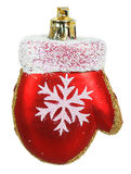 Bright Christmas tree toy red mitten Stock Photography
