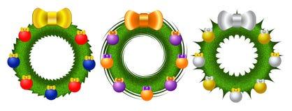 Bright Christmas wreath Royalty Free Stock Image