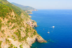 Bright Cinque Terre scenery Stock Photo