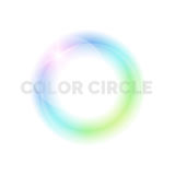 Bright circle on a light background. Royalty Free Stock Images