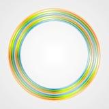 Bright circle logo background Stock Image