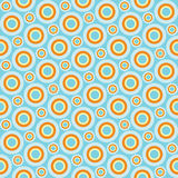 Bright circles. Background with seamless pattern of bright retro circles Stock Images