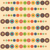 Bright circles baby seamless background. Abstract background vector illustration Stock Photos