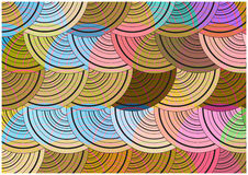 Bright circles background Stock Image