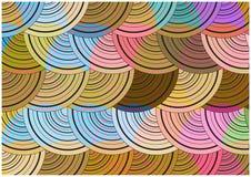 Bright circles background Stock Image