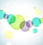 Bright circles background. Nice green spring circles on soft pastel backgrounds with bokeh and sparkling vector illustration