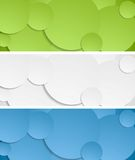Bright circles vector banners Stock Photo