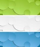 Bright circles vector banners Stock Photo